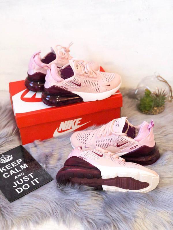Шикарные женские кроссовки nike air max 270 pink  😍 (весна/ ле... - Фото 10