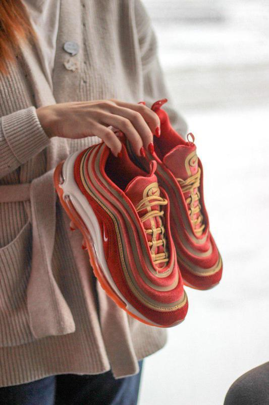 Шикарные женские кроссовки nike air max 97 dusty peach 😍 (весн... - Фото 5