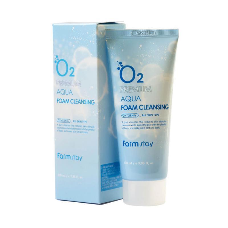Кислородная пенка для умывания farmstay o2 premium aqua foam c...