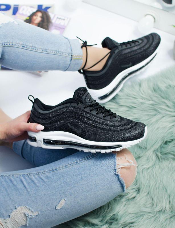 Шикарные женские кроссовки nike air max 97 swarovski black 😍 (...