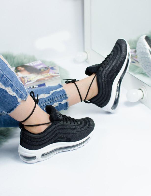 Шикарные женские кроссовки nike air max 97 swarovski black 😍 (... - Фото 2