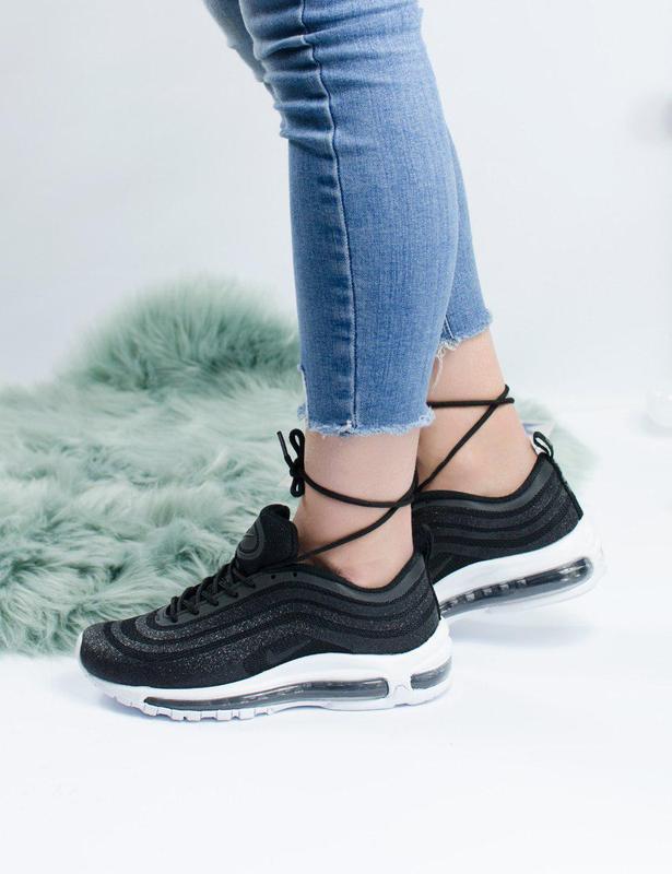 Шикарные женские кроссовки nike air max 97 swarovski black 😍 (... - Фото 3