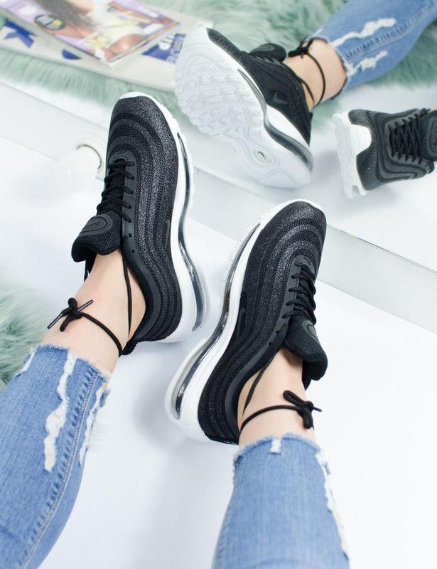 Шикарные женские кроссовки nike air max 97 swarovski black 😍 (... - Фото 4