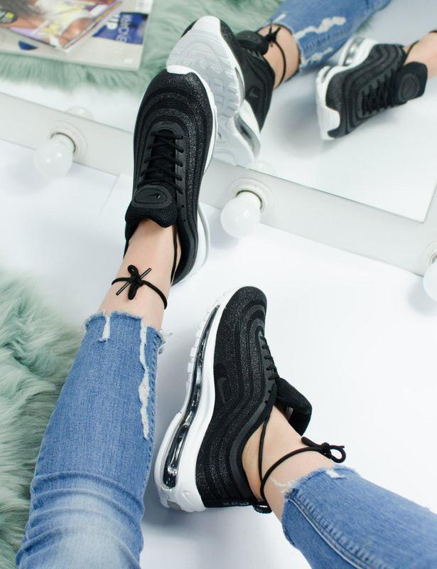Шикарные женские кроссовки nike air max 97 swarovski black 😍 (... - Фото 5