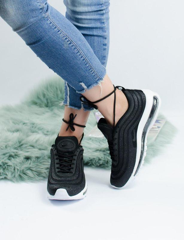Шикарные женские кроссовки nike air max 97 swarovski black 😍 (... - Фото 6