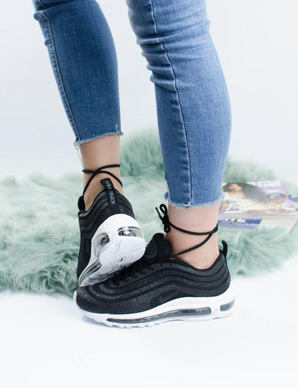 Шикарные женские кроссовки nike air max 97 swarovski black 😍 (... - Фото 7