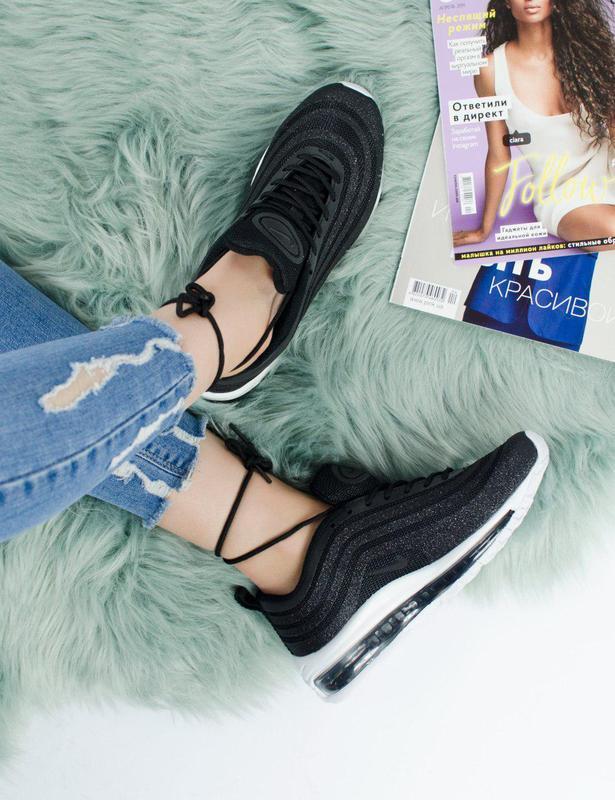 Шикарные женские кроссовки nike air max 97 swarovski black 😍 (... - Фото 9