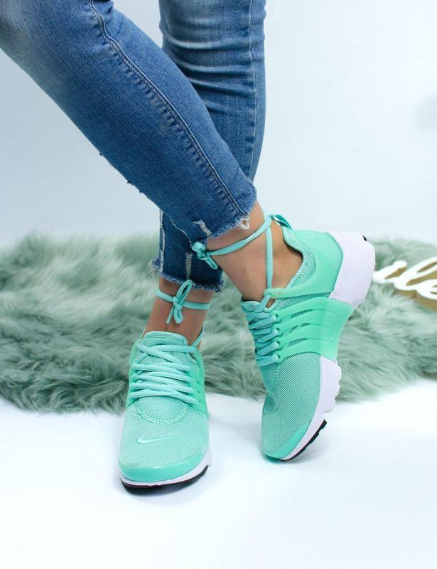 Шикарные женские кроссовки nike air presto green 😍 (весна/ лет... - Фото 2