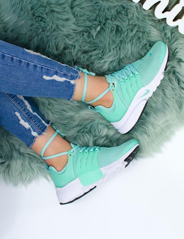 Шикарные женские кроссовки nike air presto green 😍 (весна/ лет... - Фото 4