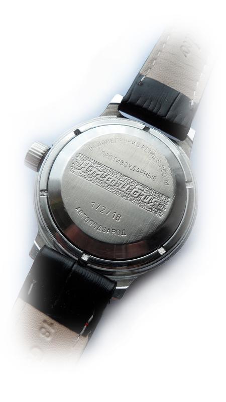 Часы КОМАНДИРСКИЕ-АМФИБИЯ-АВТОподзаводом, механика, СССР 70-х. - Фото 10
