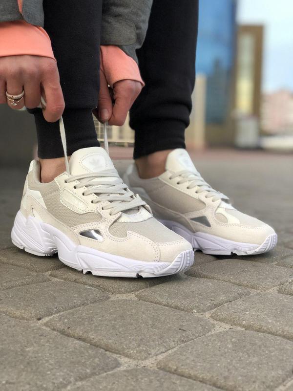 Шикарные женские кроссовки adidas falcon white 😍 (весна/ лето/... - Фото 2