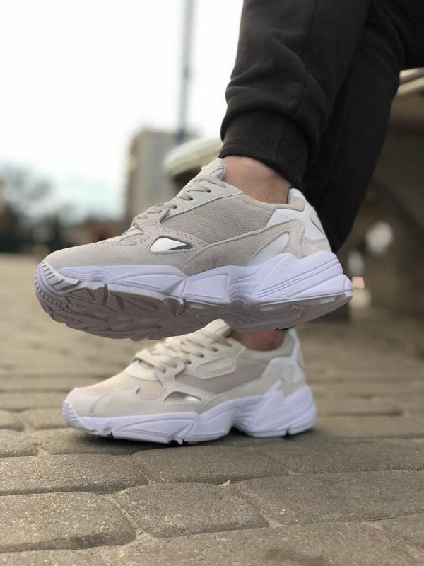 Шикарные женские кроссовки adidas falcon white 😍 (весна/ лето/... - Фото 4