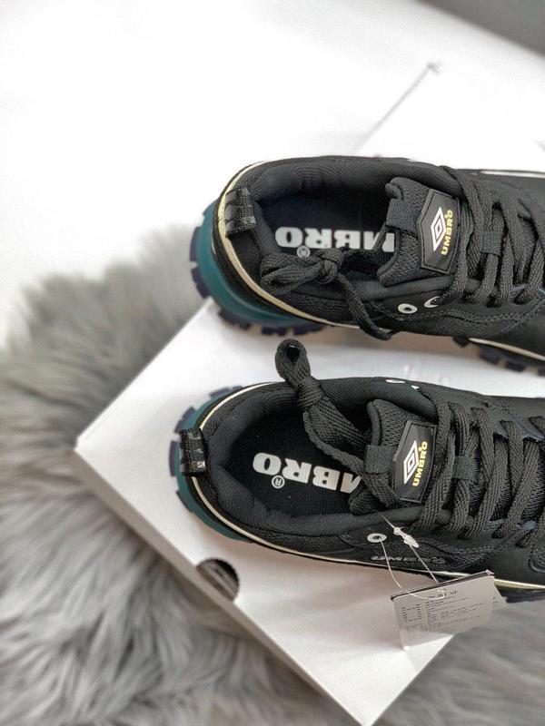 Шикарные женские кроссовки umbro black/green 😍 (весна/ лето/ о... - Фото 2
