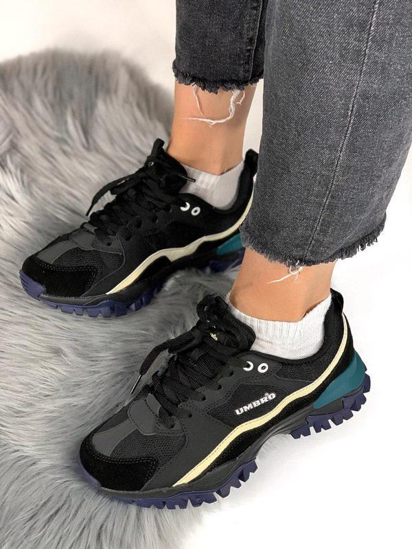 Шикарные женские кроссовки umbro black/green 😍 (весна/ лето/ о... - Фото 10