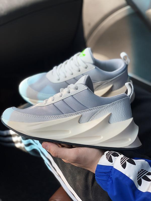 Шикарные женские кроссовки adidas sharks 🦈 boost light grey 😍 ... - Фото 2