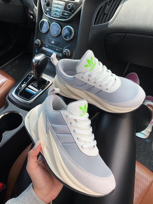 Шикарные женские кроссовки adidas sharks 🦈 boost light grey 😍 ... - Фото 4