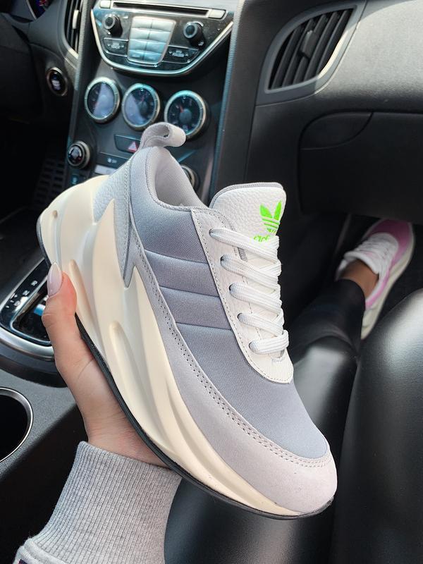 Шикарные женские кроссовки adidas sharks 🦈 boost light grey 😍 ... - Фото 5