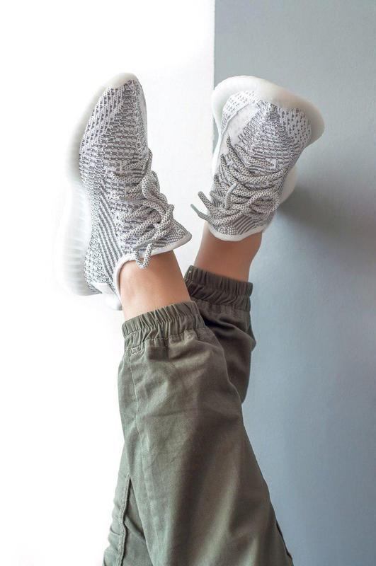 Шикарные женские кроссовки adidas yeezy boost 350 static 😍 (ве... - Фото 4