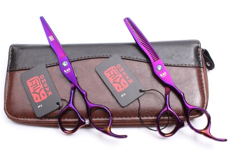 Ножницы 6. 0 парикмахерские KASHO эргономичные