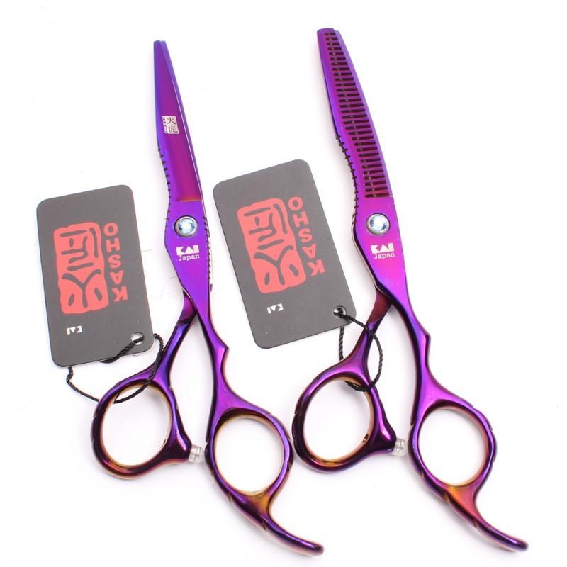 Ножницы 6. 0 парикмахерские KASHO эргономичные - Фото 4