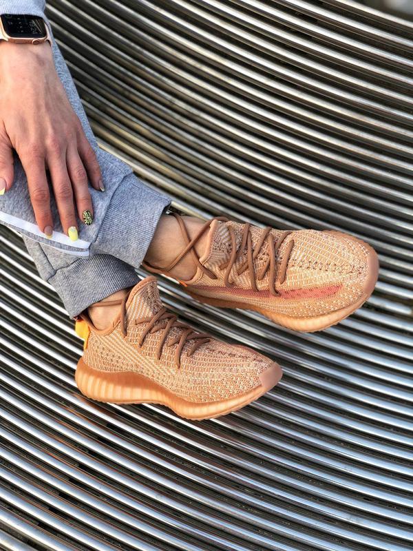 Шикарные кроссовки adidas yeezy 350 v2 😍 (весна/ лето/ осень),... - Фото 9
