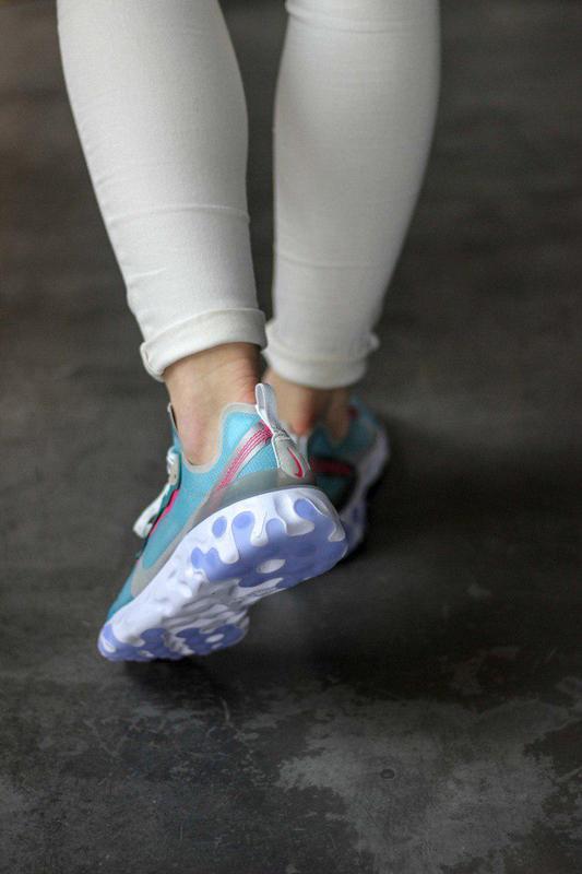 Шикарные женские кроссовки nike react element 87 royal tint bl... - Фото 4