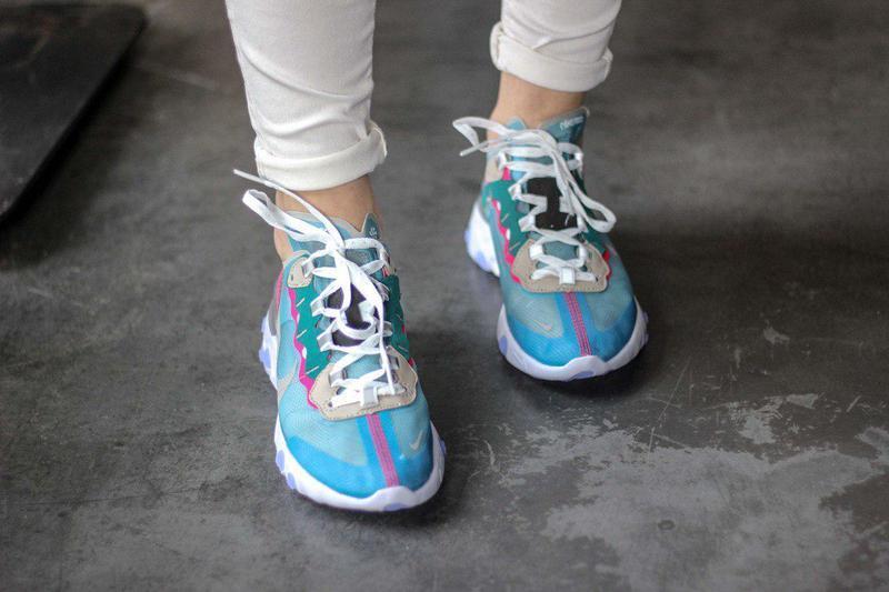 Шикарные женские кроссовки nike react element 87 royal tint bl... - Фото 6