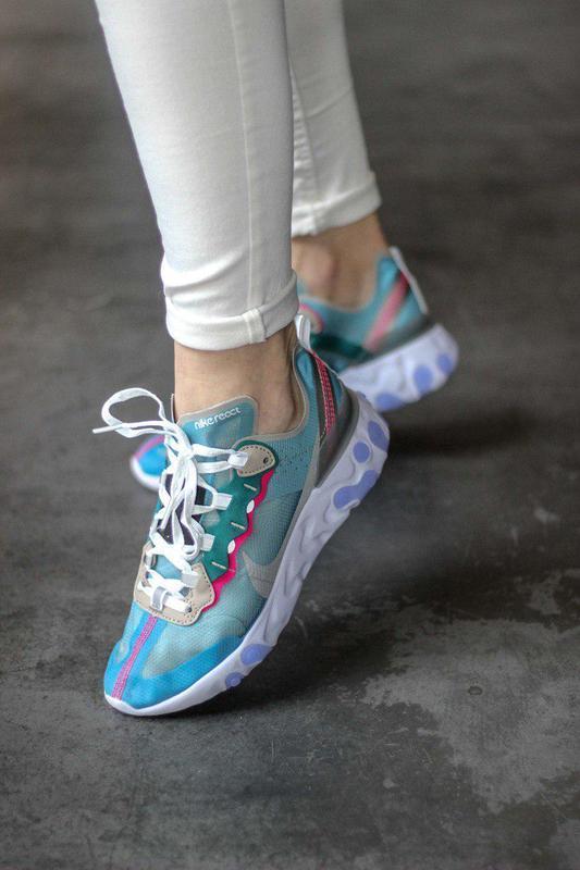 Шикарные женские кроссовки nike react element 87 royal tint bl... - Фото 7