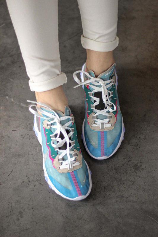 Шикарные женские кроссовки nike react element 87 royal tint bl... - Фото 10