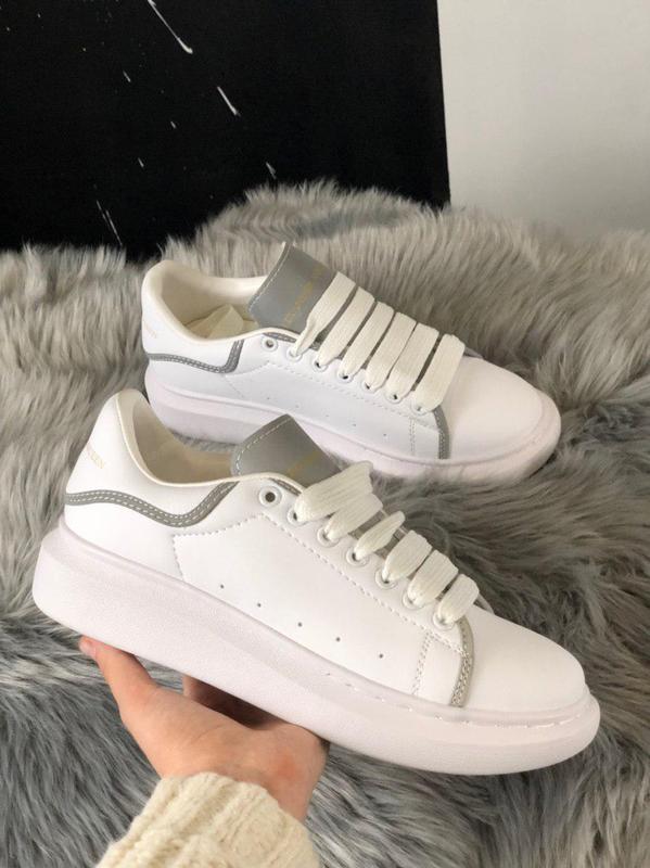 Шикарные женские кроссовки alexnder mcqueen white reflective 😍... - Фото 2