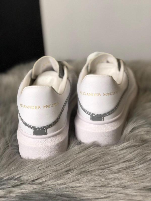 Шикарные женские кроссовки alexnder mcqueen white reflective 😍... - Фото 3