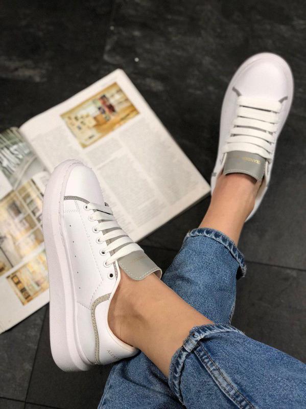 Шикарные женские кроссовки alexnder mcqueen white reflective 😍... - Фото 6