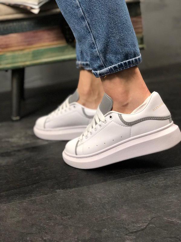 Шикарные женские кроссовки alexnder mcqueen white reflective 😍... - Фото 7