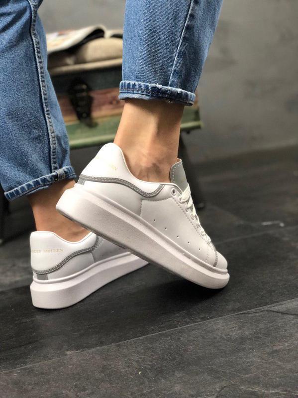 Шикарные женские кроссовки alexnder mcqueen white reflective 😍... - Фото 8