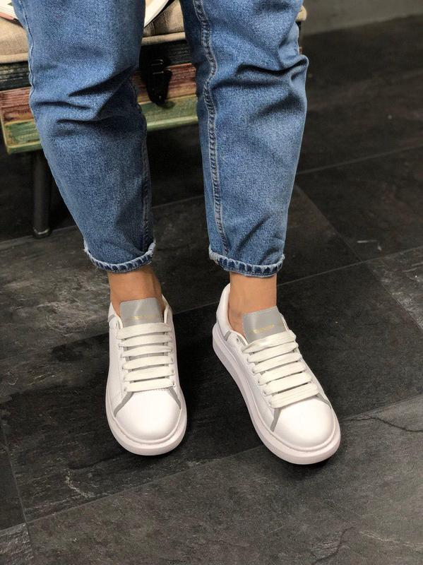 Шикарные женские кроссовки alexnder mcqueen white reflective 😍... - Фото 9