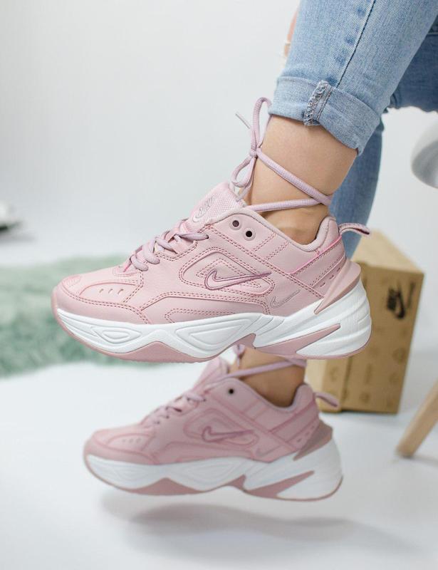 Шикарные женские кроссовки nike m2k tekno pink 😍 (весна/ лето/...