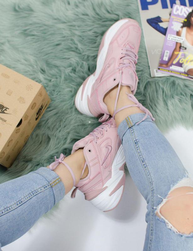 Шикарные женские кроссовки nike m2k tekno pink 😍 (весна/ лето/... - Фото 2