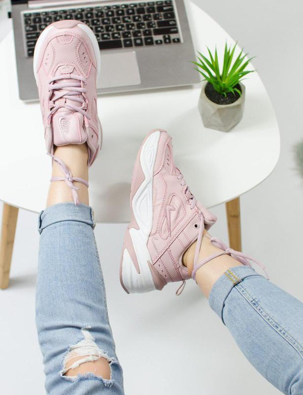 Шикарные женские кроссовки nike m2k tekno pink 😍 (весна/ лето/... - Фото 4