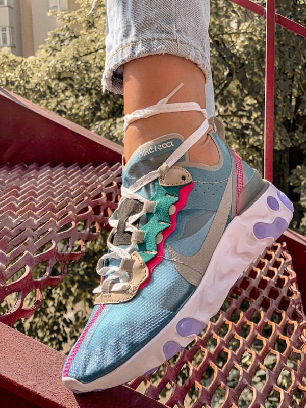 Шикарные женские кроссовки nk react element 87 royal tint 😍 (в... - Фото 2