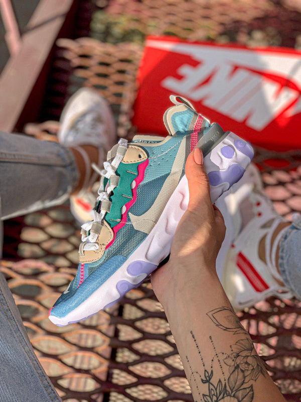 Шикарные женские кроссовки nk react element 87 royal tint 😍 (в... - Фото 5