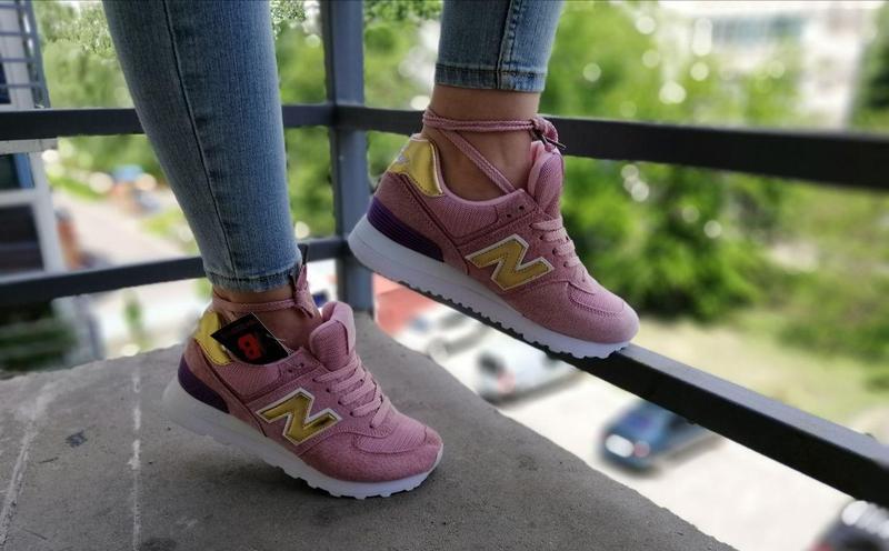 Шикарные женские кроссовки new balance pink 😍 (весна/ лето/ ос... - Фото 2