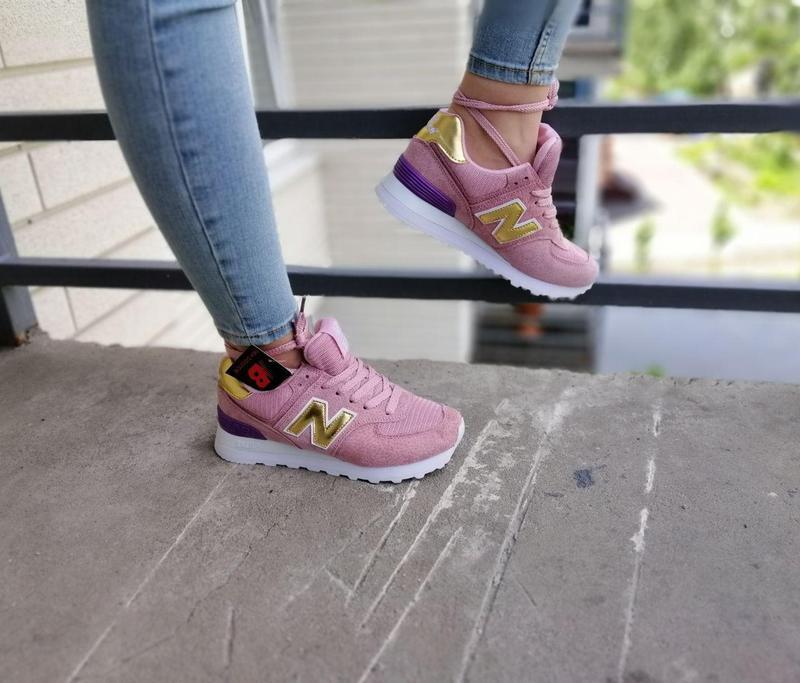 Шикарные женские кроссовки new balance pink 😍 (весна/ лето/ ос... - Фото 7
