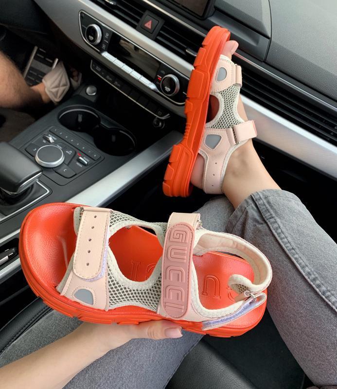 Шикарные женские летние хайповые сандали/ босоножки на платфор... - Фото 4