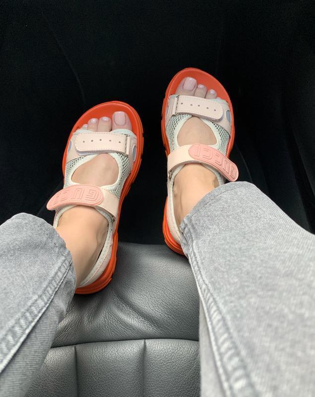 Шикарные женские летние хайповые сандали/ босоножки на платфор... - Фото 5