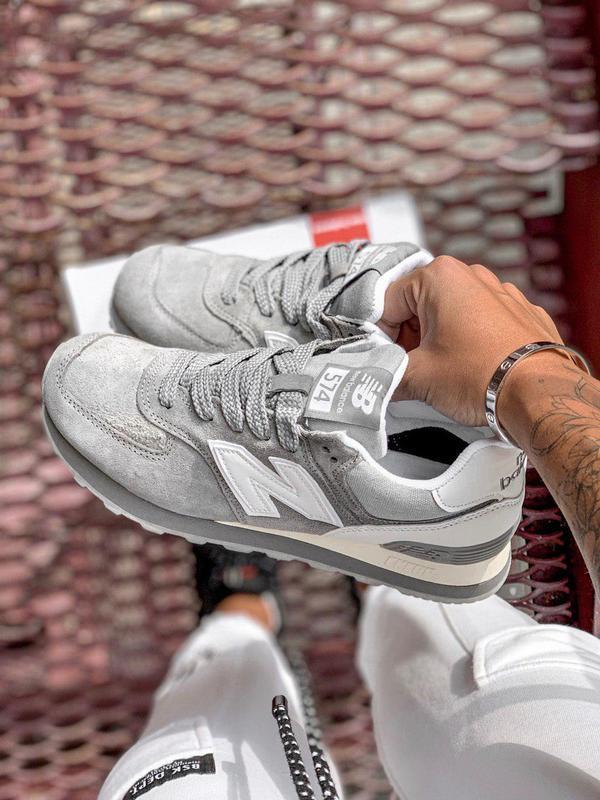 Шикарные женские кроссовки new balance 574 gray 😍 (весна/ лето... - Фото 2