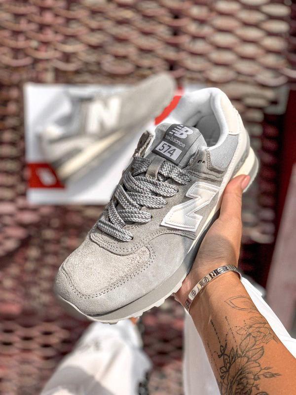 Шикарные женские кроссовки new balance 574 gray 😍 (весна/ лето... - Фото 3