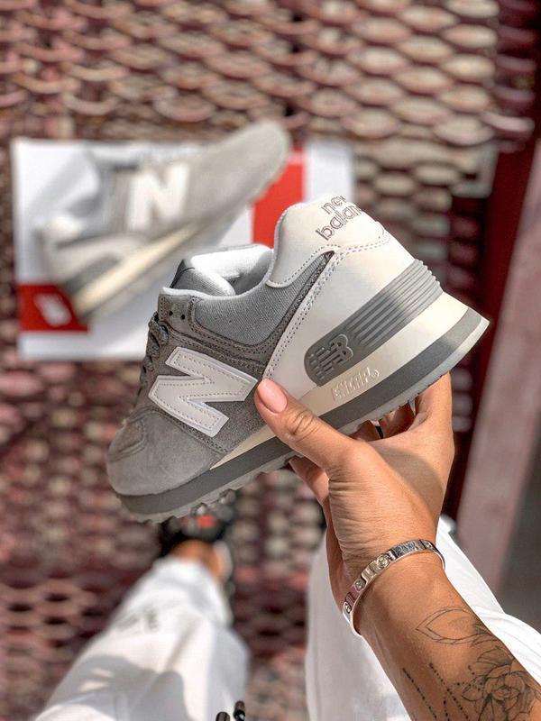 Шикарные женские кроссовки new balance 574 gray 😍 (весна/ лето... - Фото 4