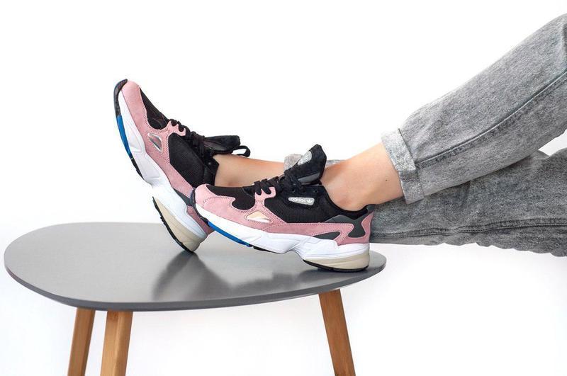 Женские кроссовки adidas falcon pink/ black 😍 (весна/ лето/ ос...