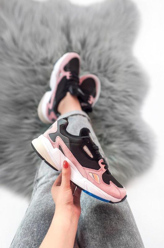 Женские кроссовки adidas falcon pink/ black 😍 (весна/ лето/ ос... - Фото 3