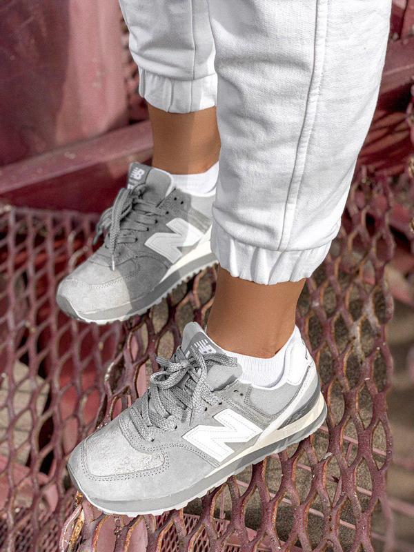 Шикарные женские кроссовки new balance 574 gray 😍 (весна/ лето... - Фото 5